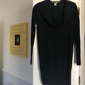 DVF black sweater tunic